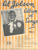 'Album of Songs', songbook, Al Jolson (1886-1950)
