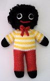 Golly Dolly Boy - Hand-made Knitted Golliwog/Golliwogg Doll