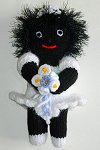 The Bridesmaid Golly Dolly - Hand-made Knitted Golliwog/Golliwogg Doll