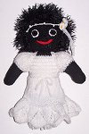 The Bride Golly Dolly - Hand-made Knitted Golliwog/Golliwogg Doll