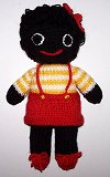 Golly Dolly Girl - Hand-made Knitted Golliwog/Golliwogg Doll