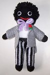 The Groom Golly Dolly - Hand-made Knitted Golliwog/Golliwogg Doll