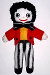 Gladstone the White Golly Dolly - Hand-made Knitted Golliwog/Golliwogg Doll