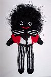 Maestro Golly Dolly - Hand-made Knitted Golliwog/Golliwogg Doll