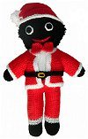 Santa Golly Dolly - Hand-made Knitted Golliwog/Golliwogg Doll