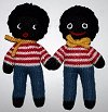 Terrible Two Golly Dollies - Hand-made Knitted Golliwog/Golliwogg Dolls
