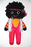 Woodstock Golly Dolly - Hand-made Knitted Golliwog/Golliwogg Doll
